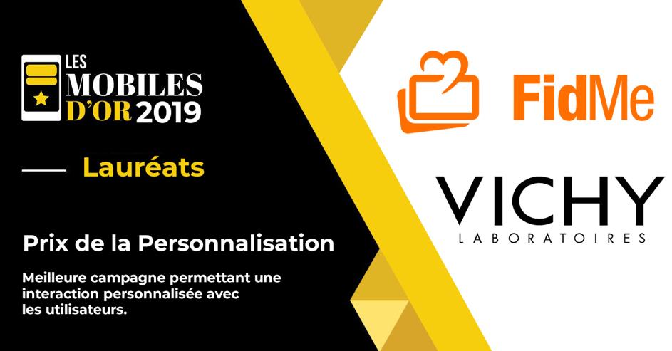Mobiles d'Or 2019 : Fidme remporte le Prix de la Personnalisation avec sa campagne drive-to-store pour Vichy