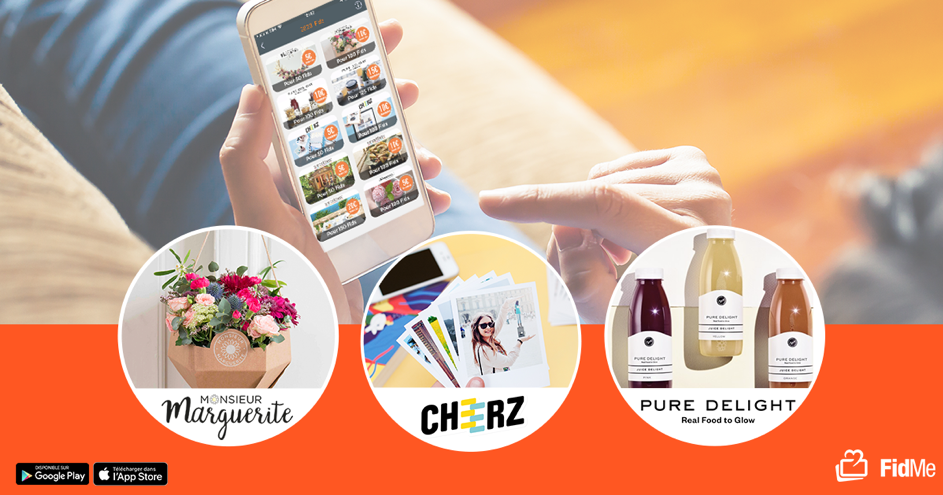 Avec Cheerz, Mr Marguerite et Pure Delight, FidMe renforce son programme de fidélité et la gamification de son application shopping